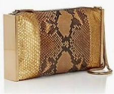 LANVIN - 2390$ - Sac Python Or NEUF - NEW Private Snakeskin Gold Bag Clutch