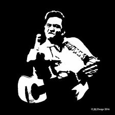 Johnny Cash Flipping the Bird Singer Window Decal Sticker Oracal Vinyl White