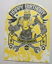 Transformers Happy Birthday Card Bumblebee Kid Squad