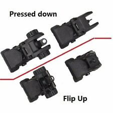 US SELLER!!! Polymer Backup Front and Rear Flip up Sight Combination