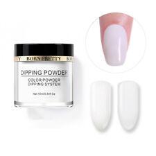 10ml BRON PRETTY Nail Art White Dipping Powder Natural Dry Long Lasting French