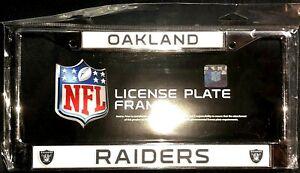 NFL Oakland Raiders Chrome Metal License Plate Frame