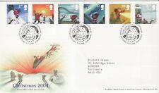 GB Stamps First Day Cover Xmas Christmas and Santa Claus, snow SHS Santa 2004