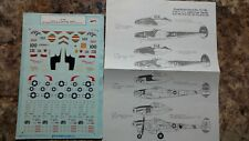 1/72 Super Scale Decals P-38F,J,L Lightnings Pacific