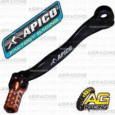 Apico Black Orange Gear Pedal Lever Shifter For KTM EXC 300 Six Days 2017 Enduro