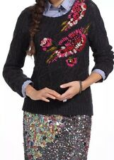 """LeifNotes """"Abstract Garden Pullover Sweater"""" ANTHROPOLOGIE--M"""
