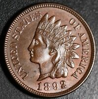 1892 INDIAN HEAD CENT- Choice AU+ UNC - With HINTS OF MINT LUSTER!