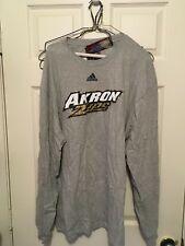 "Akron Zips ""The Go-To TEE""  Long Sleeve T-Shirt -Ash-Gray- Adidas - Jason Taylor"