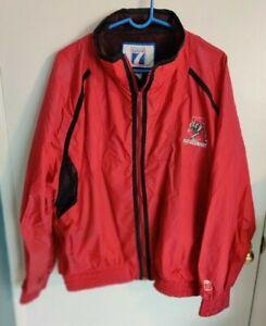 VTG 90s Alabama Crimson Tide Logo 7 Men's Red Zip Windbreaker Jacket XL