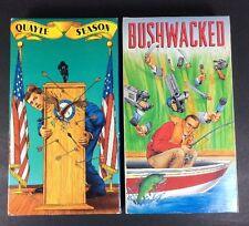 VHS Political Comedy Bushwacked And Quayle Season Jim Morris Lewis Black Parody