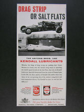 1961 Kendall Oil Arfons Bros Dragster & Anteater Land Speed Car vintage print Ad