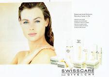 Publicité Advertising 018  1989  Givenchy (2p)  cosmétiques cremes Swisscare