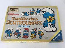 PUZZLE BOIS, : FAMILLE DES SCHTROUMPS 1984 PEYO, RAVENSBURGER