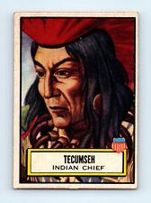 #96 CHIEF TECUMSEH Vintage 1952 TOPPS LOOK 'N SEE Trading Card