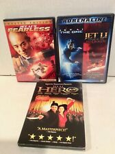 3 Dvds Jet Li Hero, Fearless, The One, Red Dragon, Martial Arts (4 movies) Dvd