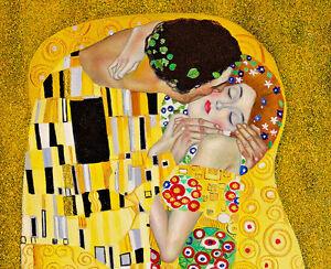 The Kiss Detail III by Gustav Klimt 80cm x 65cm High Quality Canvas Print