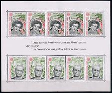 MONACO 1980 BLOC BLOCK 18 EUROPA Pagnol Colette cote 20€ ★★ neuf sans charnière