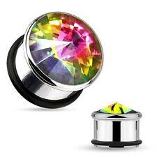Diamond Tunnel/Plug Body Piercing Jewellery
