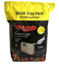 BBQ Instant Light Charcoal Bar-Be-Quick 15kg 10 Individual Bags Ready 20 Mins