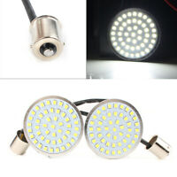 "2"" Turn Signal Inserts BULLET Style 1156 LED Light XL White  Fit Harley Davidson"
