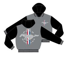 Kids Mustang Wool Jacket With Hood - Reversible! - Coolest Youth Jacket EVER!