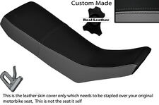 GREY & BLACK CUSTOM FITS YAMAHA DT 125 R 90-98 DUAL LEATHER SEAT COVER
