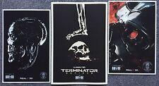 2015 TERMINATOR GENISYS exclusive 3 POSTER set - Arnold Schwarzenegger 3D IMAX