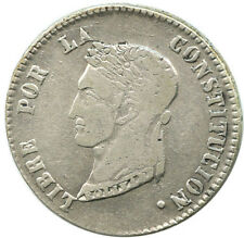 Potosi, Bolivia, 4 soles, 1858 FJ Simon Bolivar Bust #1002