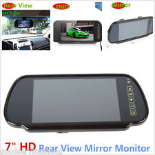 7 inch HD LCD TFT Car Reverse Rear View Backup Camera DVD Mirror Monitor Screen