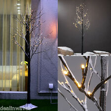 5FT 72LED Warm White Snowy Twig Tree Light Pre-Lighted Outdoor Home Decor Easter