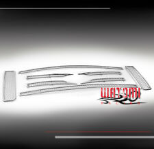 09-12 FORD F-150 FX4 STX XL FRONT UPPER STAINLESS STEEL MESH GRILLE CHROME 8PCS