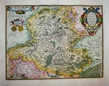 "1603 Ortelius (Jacques Surhon) ""Secret Map"" of Hainaut Fine Example, Decorative!"