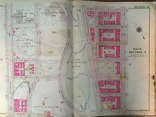 1914 BROMLEY HARLEM CCNY MANHATTAN ORIGINAL MAP ATLAS 8TH-AMSTERDAM 133TH-139TH