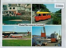 D3000mdt UK Postal Services in Cornwall British Airways Helicopter postcard