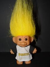 "Troll Doll 3"" Russ Baseball Pittsburgh Pirates Yellow Hair"