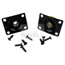 Musiclily 2Pcs Black Square Electric Guitar Jackplate Socket Jack Output Plate
