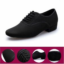 Black Oxford Cloth Latin dance shoes Men's Modern ballroom Shoes Soft Outsole