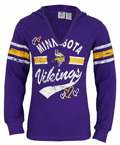 Outerstuff NFL Youth Girls 7-16 Minnesota Vikings Pullover Thermal Shirt, Purple