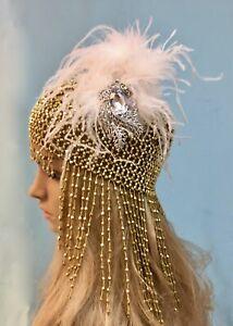 flapper bridal hat