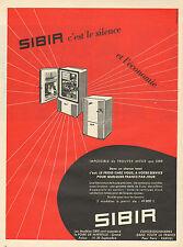 Publicité 1957  Réfrigérateur SIBIR