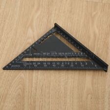 Aluminum Alloy Speed Square Quick Roofing Rafter Triangle Ruler Guide Black DIY
