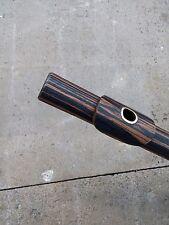 Natural Macassar Ebo ny Wood  Alto Flute Key of C (Bansuri) .Macassar Ebony