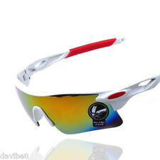 Mens OULAIOU Sunglasses White Red Cycling Triathlon Biking Running Sport + CASE