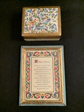 Vintage Florentine Framed House Blessing and Trinket Box Made in Italy