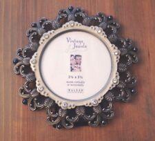 """MALDEN Vintage Jewels Round Picture Frame 3.5"""" x 3.5"""""""