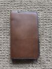 Handmade Unique Leather Wallet (Tall, Dark Brown)