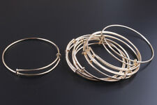 10PCS Gold Plated Expandable Wire Bangle Bar Bracelets