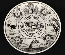 Vintage Chicago Zoological Society Souvenir Plate