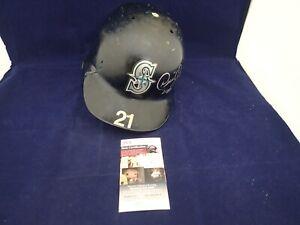 David Segui Signed Seattle Mariners Game Used F/S Batting Helmet - JSA NN91169