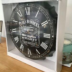 Peaky Blinders, Whiskey Clock. The Garrison Vintage Style Bottle Top Style Clock